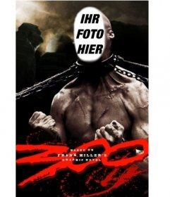Werden Sie, um das Monster des Films 300 mit Ketten an den Hals