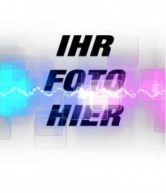 Fügen Sie Ihre Fotos ein spezielles Foto-Effekt mit Lasern und fluoreszierenden Farben