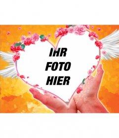 Postkarte Valentinstag Tag, mein Herz ist in deinen Händen