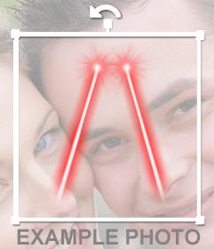 Laser Vision Augen zu meinem Foto online hinzufügen
