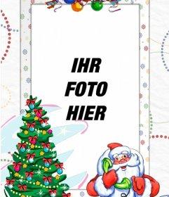 Foto-Rahmen mit Santa Claus, um das Foto mit ihm zu setzen