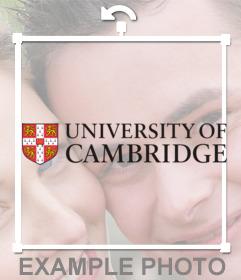 Aufkleber mit dem Logo der Universität Cambridge