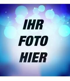 Photo Filter mit Blaulicht mit hellen Türkis Kreise