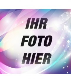 Fügen Sie einen Filter blau und lila Traum mit funkelt und Sterne, um Ihre Fotos und bearbeiten Sie sie online