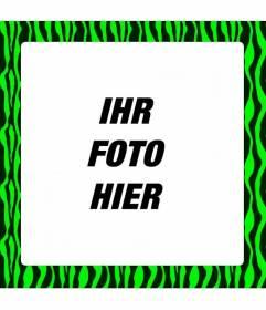 Neon Green Zebra-print Rahmen zu schmücken Sie Ihre digitalen Fotos