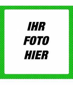 Fluorescent grünen Rahmen um Fotos mit modern neon Look mit schwarzen Flecken schmücken
