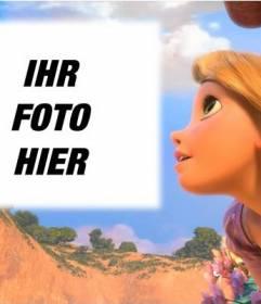 Fotomontage mit Prinzessin Rapunzel Disney