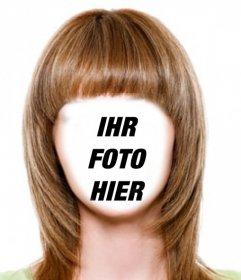 Ändern Sie Ihre Haare hellbraun und kurz mit diesem Fotomontage