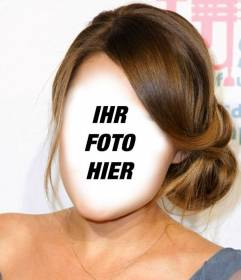 Ändern Sie Ihre Haare hellbraun und gesammelt mit diesem Effekt Online-