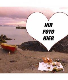 Photo Frame für die Liebe, um das Foto auf einer Picknick setzen