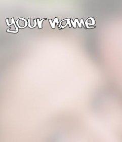 Foto Effekt Ihren Namen auf dem Bild zu setzen Sie wollen