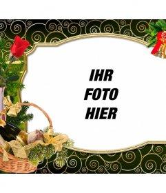 Weihnachtskarte, mit Ihrem Foto personalisieren