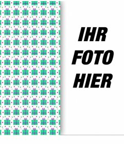 Foto-Effekt Ihr Bild mit einem Packpapier dekorieren