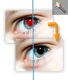 Entfernen Sie rote Augen von Ihrem Foto online