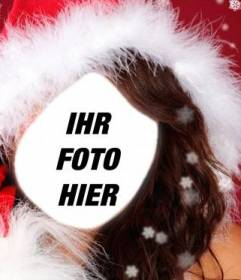 Fotomontage Assistentin von Santa Claus, mit Ihrem Foto online zu verdienen