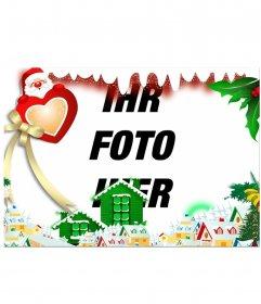 Umgeben Sie Ihr Bild mit einem Weihnachtsdorf Bearbeitung dieses Online-Effekt