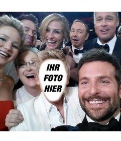 Fotomontage des berühmten selfie der Oscar-Verleihung mit Ihrem Foto zu tun