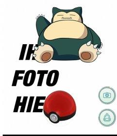 Foto Effekt von Pokemon Go mit Snorlax mit Ihrem Foto