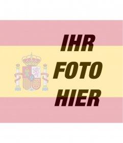 Fotomontage, die Flagge von Spanien in Ihr Foto setzen, dass man in deinem Profilbild verwenden