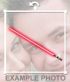 Aufkleber eines roten Sith Lichtschwert für Ihr Foto