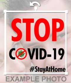 Coronavirus und Stopp-Covid-19-Filter mit Ihrem Foto