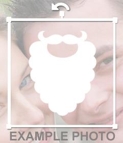 Weißer Bart von Santa Claus, die Sie in Ihre Fotos online einfügen können
