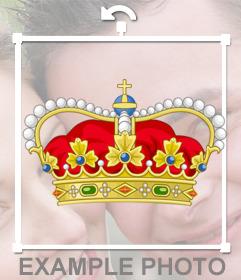 Royal Queen Crown auf Ihre Fotos einfügen als ein Online-Aufkleber