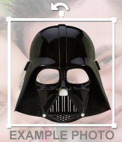 Aufkleber der Maske von Darth Vader auf Ihre Fotos setzen