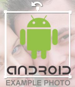Android-Logo-Aufkleber für Ihre Fotos