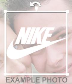 Aufkleber des Nike-Logo auf Ihre Bilder setzen