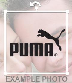 Puma-Logo-Aufkleber auf Ihre Fotos setzen