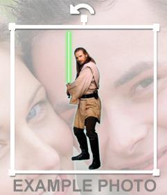Aufkleber der Star Wars-Charakter Qui-Gon Jinn für Ihre Fotos