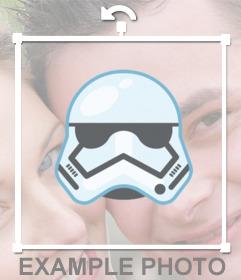 Aufkleber der Maske eines Stormtrooper für Ihre Fotos