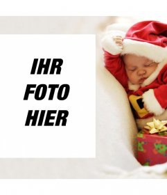 Weihnachtsfoto-Effekt mit einem Baby zu laden Sie Ihr Foto