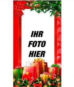 Weihnachtskarten für Facebook-Stories und Instagramme