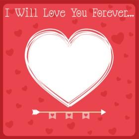Liebeskarte mit dem Text wird dich für immer lieben