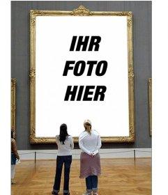 Fotomontage, um Ihr Foto in ein Museumsbild einzufügen