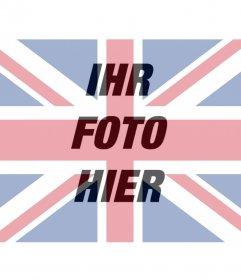 Filter der britischen Flagge auf dem Foto zu überlagern