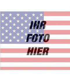 Bilder der US-Flagge zum Aufhängen auf Ihrem Foto
