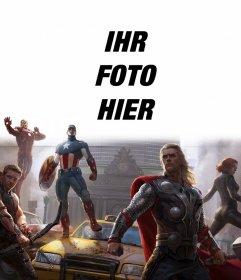 Installation der ersten Avengers Verteidigung der Stadt mit Ihrem Foto oben