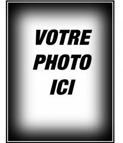 """Faire du tuning à vos images avec nos performances, dans ce cas, un cadre constitué d""""un bord noir et blanc pour les photos à la verticale"""