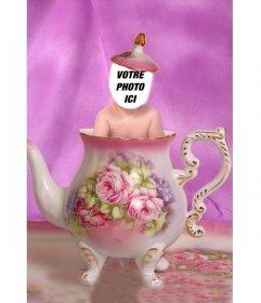 Effet de modifier avec une photo de votre enfant et le voir dans une tasse de thé