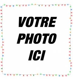 Frontière de photo de lumières de Noël où vous pouvez mettre votre photo en arrière-plan