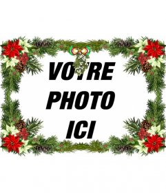 Cadre photo avec ornement que vous pouvez utiliser comme une salutation de Noël