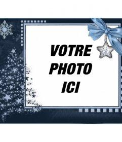 Carte de Noël classique, personnalisable avec une photo