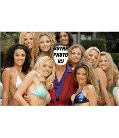 Photomontage que vous serez Hugh, entouré de filles de Play Boy