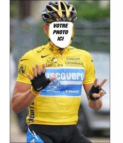 Photomontage de Lance Armstrong célébrer ses 7 Tours
