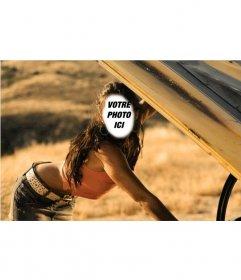 Photomontage de Megan Fox dans une scène pour ajouter un