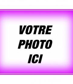 """Cadre constitué d""""un bord rose aux photos floues. Pour décorer vos photos facilement et gratuitement. Soyez sûr de regarder d""""autres effets de cette page qui sera facilement réaliser une finition professionnelle"""