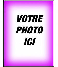 """Photomontage, mettre une bordure ou un cadre dégradé de rose. Pour décorer vos photos. Voir d""""autres photomontages gratuitement sur cette page. Obtenez une finition professionnelle dans une facile et gratuit"""